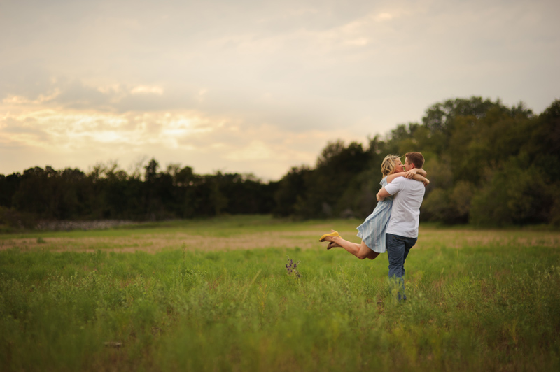 rustic engagement session on the family ranch in Hico Texas