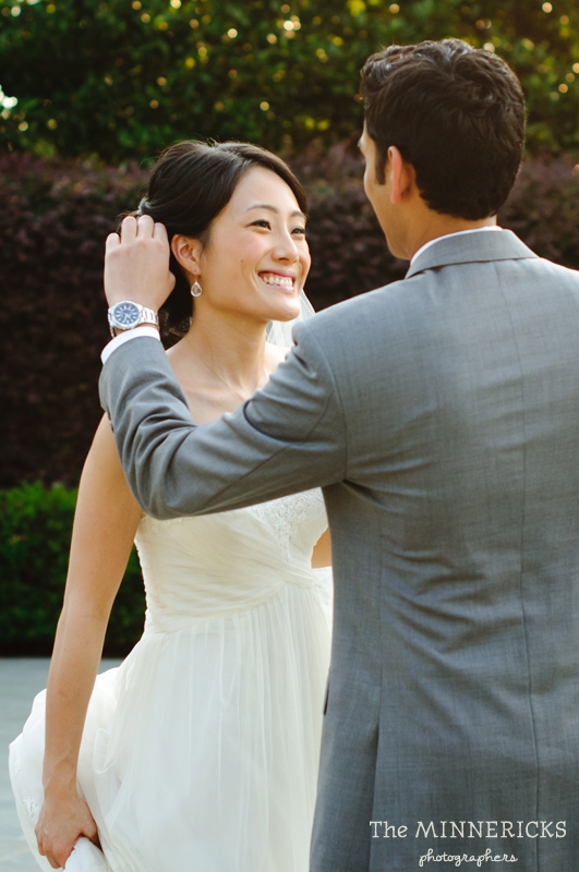 outdoor wedding at the Dallas Arboretum in the Lay Ornamental Garden and Camp House (13)