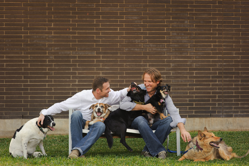 dog family photo session auctioned for Real Men Care event by MAC and DAA