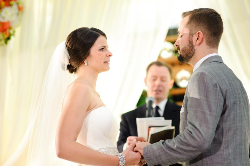 touch wedding on the veranda at Alden Houston Hotel